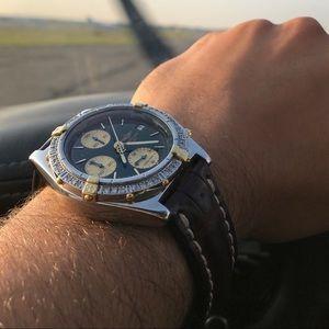 Breitling Chronomat 41MM TT 18kt SS with diamond